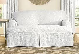 2 Piece Stretch Sofa Slipcover Sure Fit Stretch Leather Two Piece Sofa Slipcover Centerfieldbar Com