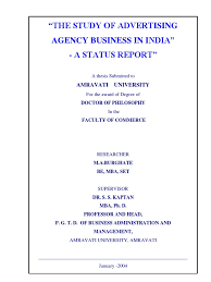 example of acknowledgement of thesis a doctoral thesis on the study of advertising agency business in a doctoral thesis on the study of advertising agency business in india a status report advertising mass media