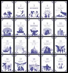 themed table numbers disney themed table numbers set of 20 digital self print