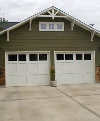 craftsman style garages simple craftsman style garage door painted white this look on