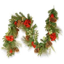 christmas garland christmas garland christmas wreaths garland the home depot