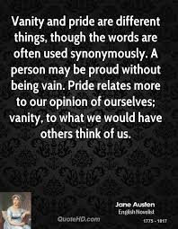 Vain Vanity Jane Austen Quotes Quotehd