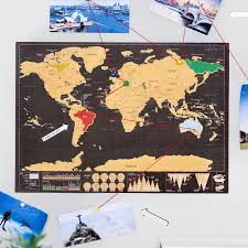 World Map Poster Large The Deluxe Scratch Off World Traveler Map Poster U2013 Zootzi
