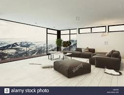 view of spacious room in hotel or penthouse with minimalist