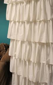 Burlap Ruffle Curtain Interior White Ruffled Curtains Shabby Chic White Ruffle