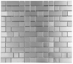 bricks and squares stainless steel tiles earthworks metal mosaic
