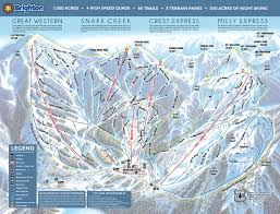 Colorado Ski Resort Map by Brighton Piste Maps