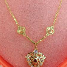 girl gold necklace images Girl gold chain 916 everything else others on carousell jpg