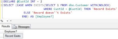 Sql Declare Temp Table How To Check If A Record Exists In Table In Sql Server Sqlhints Com