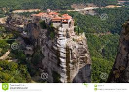 Meteora Greece Map by Hanging Monastery At Meteora Greece Stock Photos Image 26529543