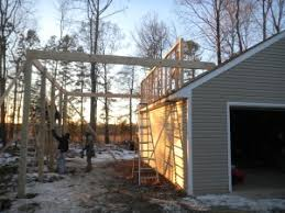 Attached Carports Attached Carport Now Has Framing Rack Built And Ready For Rafters