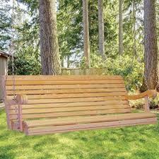 cypress 5 foot hanging amish porch swing outdoor furniture lehman u0027s