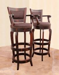 Wooden Swivel Bar Stool Solid Wood Swivel Bar Stools Foter