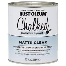 rust oleum 30 oz ultra matte interior chalked topcoat clear