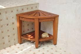 make bathroom safer with corner shower stool u2014 the homy design