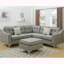 gray sectional with ottoman venetian worldwide palermo 4 piece light gray sectional sofa with