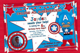 super hero photo invitation birthday party custom printable