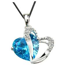 diamond blue necklace images Miracle blue diamond heart necklace best necklace jpg