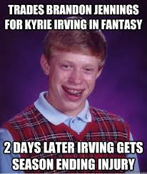 Kyrie Irving Memes - trades brandon jennings for kyrie irving in fantasy 2 days later