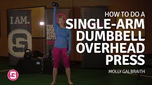 single arm overhead press girls gone strong