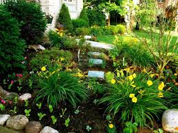 Landscape Ideas Front Yard by Showing Green Exterior Landscaping Ideas Front Yard Flowers
