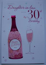 for a special daughter in law on your 30th birthday card ebay