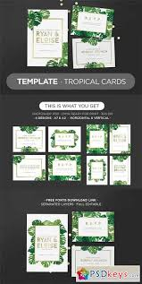 template tropical cards 309553 free photoshop vector