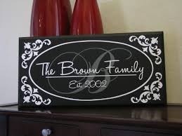 Personalized Signs For Home Decorating Custom Family Name Home Decor Sign Oval Border
