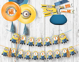 minions party supplies minions birthday party pack kids party digital files party