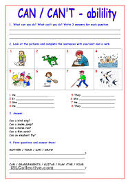 can cant 4 efl esl pinterest english worksheets and