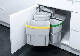 under sink trash pull out sliding trash can under sink out kitchen trash can under sink double