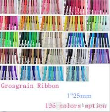 cheap ribbon for sale 15 hot sale 1 25mm solid colors grosgrain ribbon for diy bows