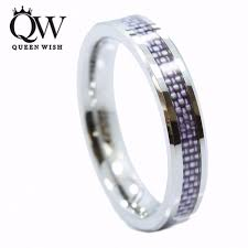 women wedding bands queenwish 4mm tungsten carbide purple carbon fiber inlay for women