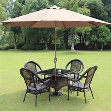 8 Ft Patio Umbrella 8 Ft Patio Umbrella Aluminum Crank Tilt Table Market Outdoor Yard