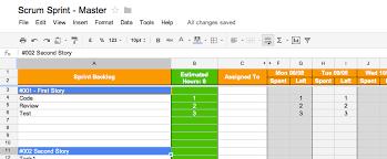 Scrum Excel Spreadsheet Scrum Tools Part 1 The Scrum Board Blue Monkey