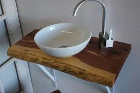 slab sink 29in cedar natural live edge hardwood slab for wall mount bathroom