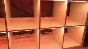 Ikea Led Light Strips by Home Decor Kallax Shelf Unit Birch Effect Ikea Within Ikea
