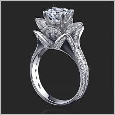 engagement rings flower design unique engagement ring setting flower design imagineny