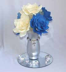 table flower centerpiece ideas aviation centerpiece navy blue