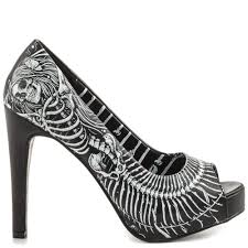 Skull High Heels Shop Shoes With Skulls And Skull Printed Shoes At Heels Com