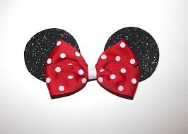 mickey mouse hair bow minnie mouse ears hair bow minnie mouse by sweetberryboutique