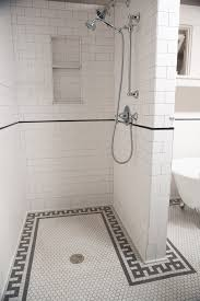 subway tile shower bathroom traditional with bungalow bathroom tile