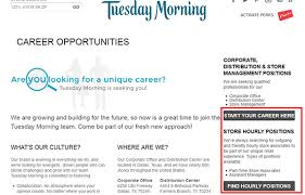 tuesday morning job application apply online