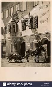 the golden griffin hotel at kitzbuhel austria stock photo