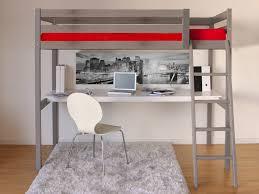 Lit Mezzanine Bureau Ado by Lit Mezzanine 90x190 Cm Bureau Sommier En Bois Colorado Gris