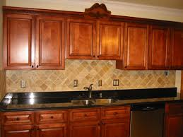 Kitchen Cabinets Unassembled Birch Cabinets Kitchen With Subway Tile Backsplash And Oak