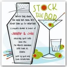 stock the bar invitations wording invitation for the stock the bar party engagement
