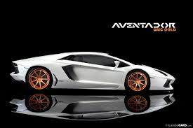 gold and white lamborghini dmc launches gold plated wheels for lamborghini