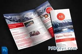 alpine travel brochure template 246 free download photoshop