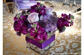 reception floral arrangements christening brunch purple flower